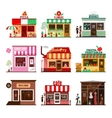 cool set detailed flat design city public vector image