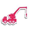 crane truck pictogram icon image vector image vector image