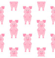 cute pig cartoon characters piggy funny animal vector image vector image