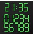 Digital Clock Numbers vector image vector image