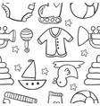 doodle of baby style design vector image vector image