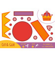 education paper game for children crown vector image vector image