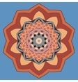Elegant Mandala Print Decorative retro banner vector image