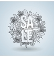 fall sale design vector image