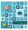 flat color icons with long shadow vector image vector image