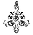 floral decorative calligraphic element vector image vector image