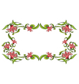 Flowery border vector image vector image