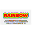 font style 3d effect rainbow color design template vector image vector image