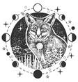 fox head tattoo or t-shirt print design vector image