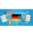 germany economy economic condition country with vector image vector image