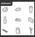 germany outline isometric icons vector image vector image