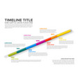 glassy infographic timeline template vector image vector image