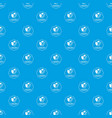 globalization pattern seamless blue vector image vector image