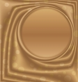 gold metal picture frame at the top of the circle vector image vector image