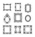 hand drawn picture frames set Sketch vector image vector image