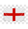 hanging flag england england national flag vector image vector image