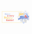 have a very hoppy easter banner vector image vector image