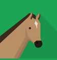 horse icon set of great flat icons design vector image vector image
