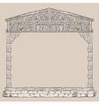 house timber framing frame vector image