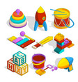 isometric preschool children toys vector image