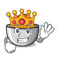 king juicer mascot cartoon style vector image vector image