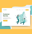landing page template customer service vector image