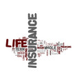 life insurance term life or whole life text vector image vector image