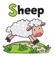 Little funny sheep for ABC Alphabet S vector image vector image