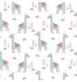 llama cute animal seamless pattern vector image vector image