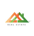 logo template real estate apartment condo house vector image vector image