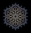 mandala circular ornament on a vector image vector image