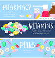 medicine banners template vector image vector image