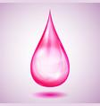 one big pink drop vector image vector image