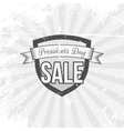 Presidents Day Sale Shield and Ribbon vector image vector image