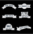 promotion sales tags vector image vector image