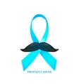 prostate cancer awareness vector image vector image