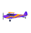 retro airplane with propeller flying aircraft vector image vector image