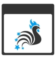 Rooster Fireworks Calendar Page Toolbar vector image vector image