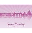 Saint Petersburg skyline in purple radiant orchid vector image vector image