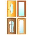 set modern doors vector image vector image