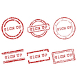 Sign up stamps vector image vector image