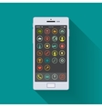Smartphone enabled on the home screen vector image vector image