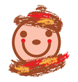 smiling face in warm colors vector image vector image