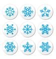 Snowflakes Christmas icons set vector image vector image