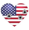 Symbol US flag heart shape bullets pierced vector image