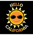 T shirt typography quote Hello California vector image vector image
