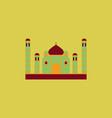 taj mahal temple indian pagoda vector image vector image