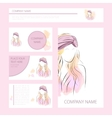 Template cards and banners with woman in turban vector image vector image