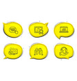 web call quick tips and online statistics icons vector image vector image