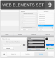 Web elements set 9 vector image